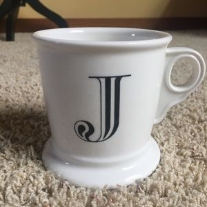 "Anthropologie Letter ""J"" Mug Shaving Cup Monogram"